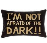 Hiccups Black I'm Not Afraid Cushion