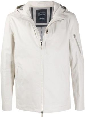 Herno Zip Front Hooded Jacket
