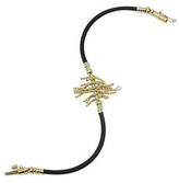 Orlando Orlandini Flirt - 18K Gold & Rubber Bracelet w/ Diamond