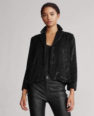 Ralph Lauren Sequined Cropped Blazer