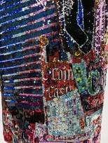 No.21 Cowboy sequin pencil skirt