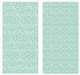 Kitchen Craft Sweetly Does It Scroll and Geometric Easy Press Embossers, Turquoise