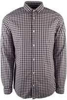 Michael Kors Men's Long Sleeve Shane Plaid Slim Fit Shirt-NR-L