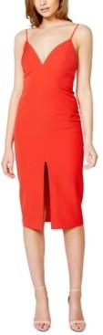 Bardot Ava Slit-Front Midi Dress