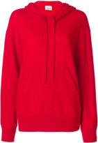 Laneus ruffle trim hoodie