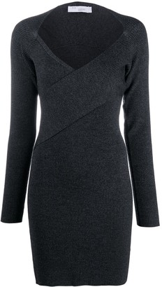 IRO Wrap-Front Ribbed Knit Dress