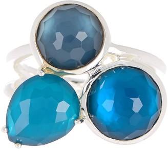 Ippolita Sterling Silver Wonderland Overlapping Quartz Stone Ring - Size 7