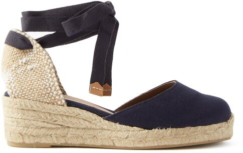 f47f17c3292 Carina 30 Canvas & Jute Espadrille Wedges - Womens - Navy