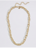 M&S Collection Gold Plated Textured Link Necklace