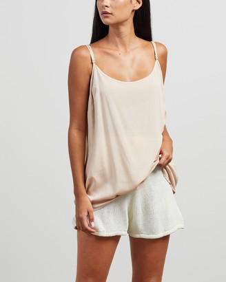 Morrison - Women's Neutrals Sleeveless Tops - Oden Cami - Size 1 at The Iconic