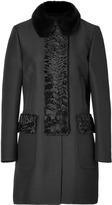 Valentino Wool-Silk/Mink Coat