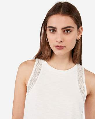 Express Embellished High Neck Tank