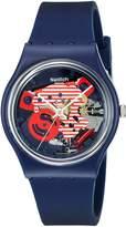 Swatch Women's GN239 Originals Analog Display Swiss Quartz Blue Watch