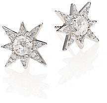 Anzie Women's Aztec Star White Topaz & White Sapphire Stud Earrings