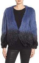 La Fiorentina Women's Genuine Rabbit Fur Ombre Jacket