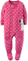 Carter's 1-Pc. Dot-Print Puppy Footed Pajamas, Toddler Girls (2T-5T)