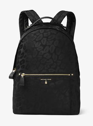 Michael Kors Kelsey Large Leopard Nylon Backpack