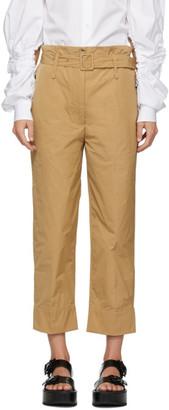 Simone Rocha Tan Paperbag Trousers
