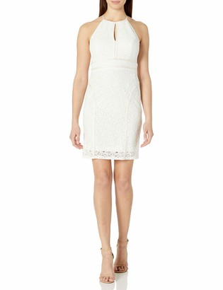 Xscape Evenings Women's Short Lace Dress with Strappy Back