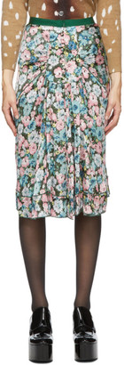 Marc Jacobs Green Silk Floral The 40s Skirt