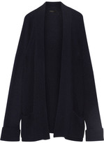 The Row Carissa Ribbed Cashmere And Silk-blend Cardigan - Midnight blue