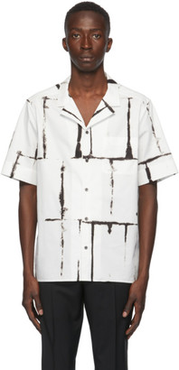 Valentino Black and White Square Drop Print Shirt