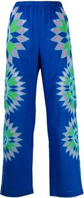 Emilio Pucci Geometric-Embroidered Trousers