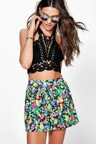 Boohoo Ada Fruit Print Flippy Shorts