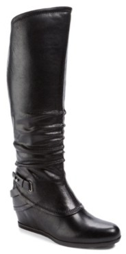 Bare Traps Tesa Wide Calf Wedge Boot