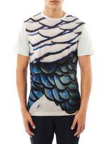 Lanvin Overblown feather-print T-shirt