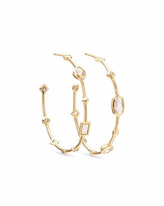 Kendra Scott Mei Hoop Earrings in White Diamond