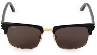 Cartier 54MM Square Sunglasses