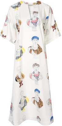 Tata-Naka Printed Kaftan Dress