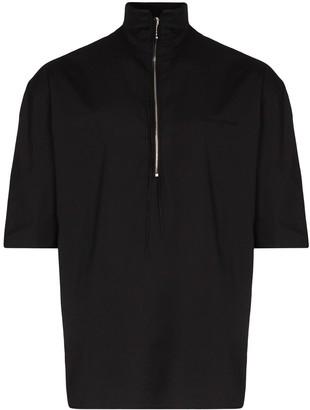 MAISON KITSUNÉ Zip-Up Short Sleeved Top