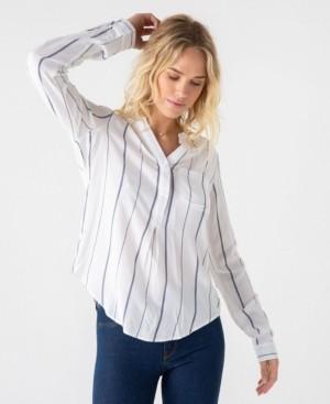 Thread and Supply Thread Supply Striped 3/4 Button Down Shirt