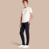 Burberry Sports-striped Cotton Blend Sweat Pants