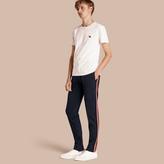 Burberry Sports-striped Cotton Blend Sweatpants