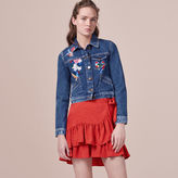 Maje Embroidered denim jacket