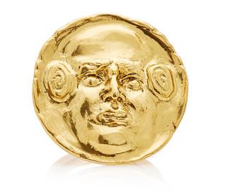 Oscar de la Renta Embossed Gold-Tone Ring