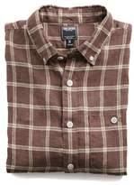 Todd Snyder Linen Windowpane Shirt in Brown