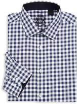 English Laundry Men's Check Cotton Dress Shirt