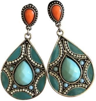 Non Signã© / Unsigned Art DAco Multicolour Steel Earrings