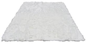 Everly Quinn Rashud Faux Fur White Area Rug Rug Size: Rectangle 8' x 10'