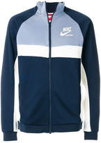 Nike colour-block zipped sweatshirt
