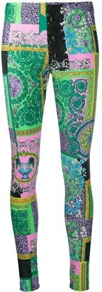 Versace Printed Stretch-Fit Leggings