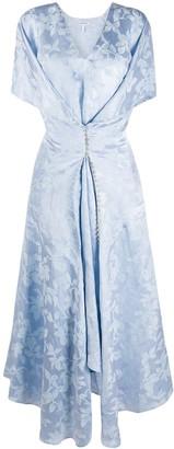 Loewe Button-Detail Leaf-Print Dress