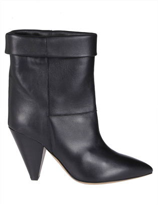 Isabel Marant Black Leather Luido Boots
