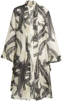 ADRIANA DEGREAS Martinique-print silk crepe de Chine cover-up