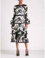 Alexis Nalani fit-and-flare lace midi dress