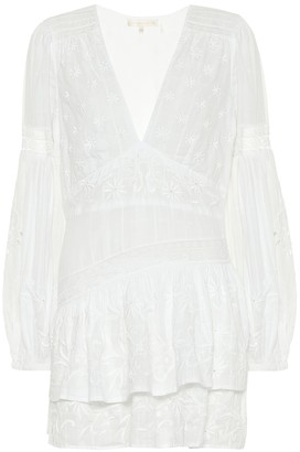 LoveShackFancy Abitha embroidered dobby cotton minidress